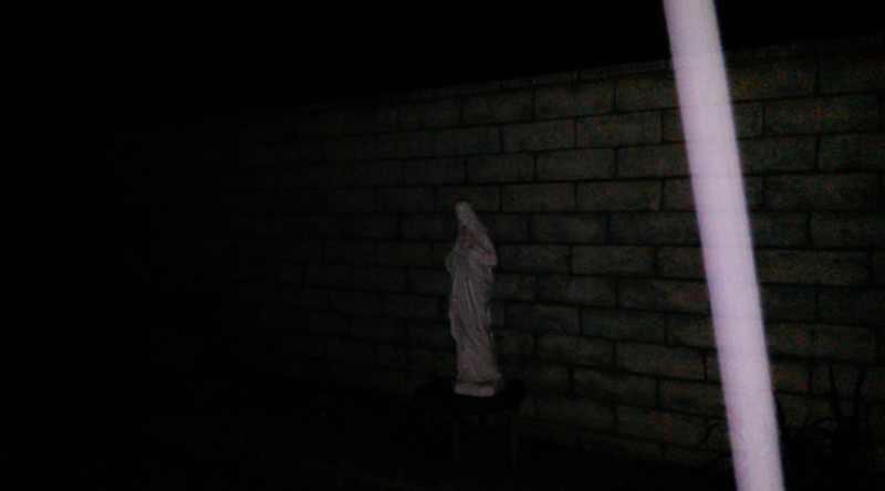 This is a still image of The Light of Jesus descending by my Jesus statue; as captured on video the evening of September 16, 2016.