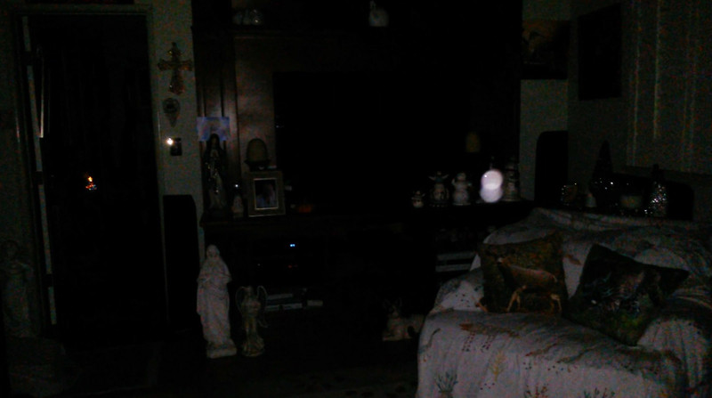 This is a still image of The Light of Jesus wishing me a Happy Birthday; as captured on video the evening of October 7, 2018.