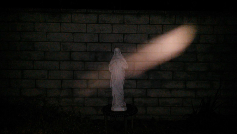 This is the second still image of The Light of Jesus descending over my Jesus statue; as captured on video the evening of June 16, 2017.