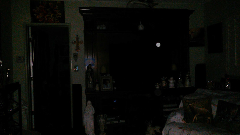This is a still image of The Light of Mary Magdalene; as captured on video the evening before the Full Harvest Moon, September 24, 2018.