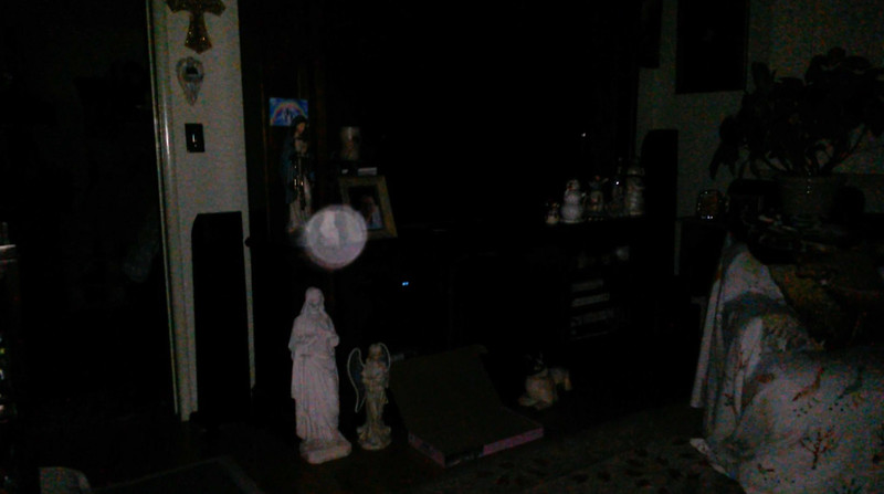 In this image, The Light of Jesus is encompassing my Jesus bust!<br /> <br /> This is the fourth and final still image of The Light of Jesus; as captured on video Easter evening, at 11:11 pm, on April 1, 2018.