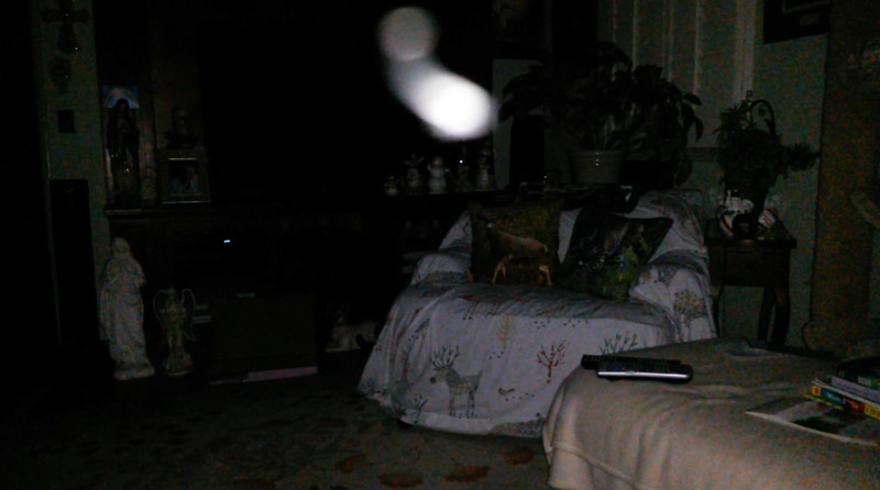 This is the fifth still image, of twelve images presented, of The Light of Mother Mary; as captured on video the evening of May 16, 2018.