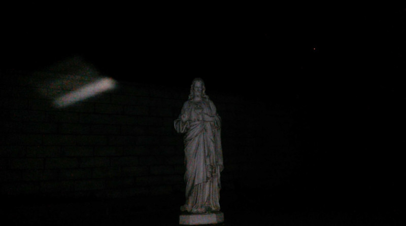 This is one still image, of four images presented, of The Light of Jesus; as captured on video the evening of February 9, 2018.