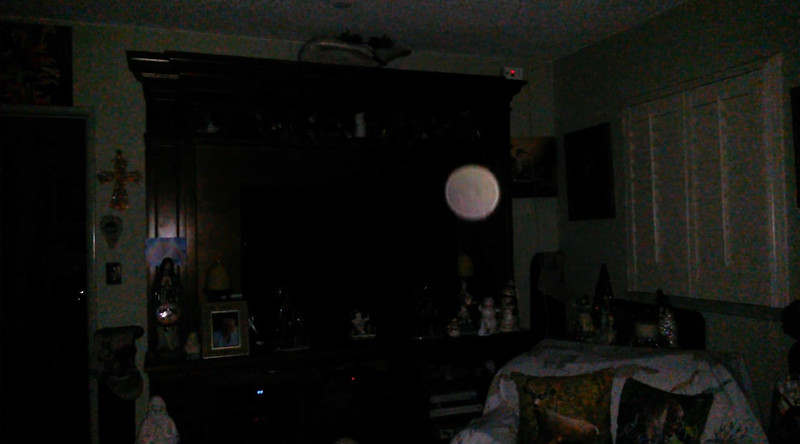 This is the second still image, of three images presented, of The Light of Mother Mary; as captured on video the evening of December 17, 2018.