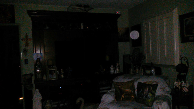This is a still image of The Light of Mother Mary; as captured on video the evening of Christmas, December 25, 2018.