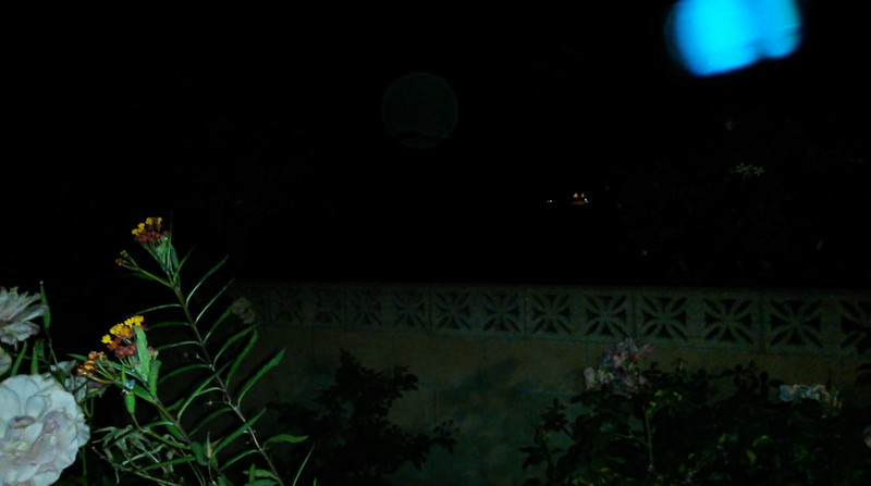 """This is the eighth still image, of twelve images presented, of The Light of Jesus; as captured on video the evening of June 11, 2018. Now, of note in this image, is the line through the golden orb and a line in His sphere form. I have documented this """"line"""" a few times in June, so The Light is changing it up for me!"""