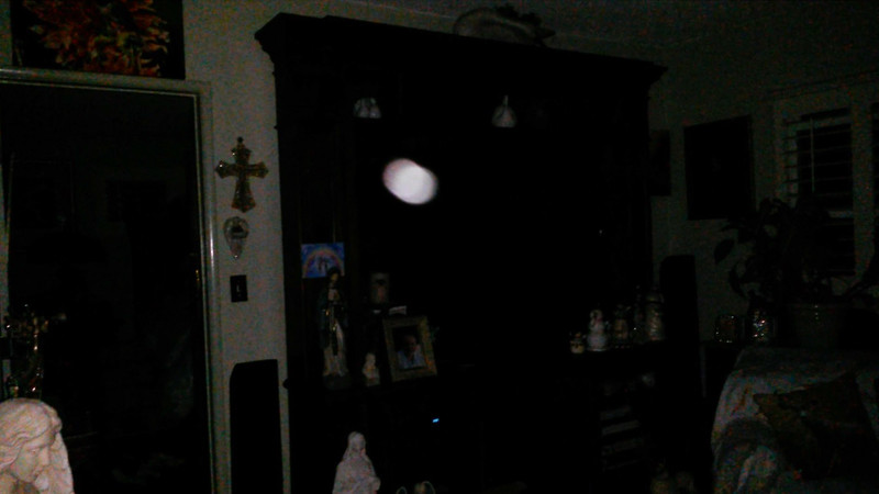 This is one still image, of two images presented, of The Light of my Grandmother Ruth; as captured on video the evening of August 12, 2018.