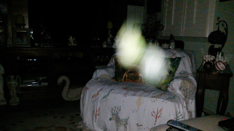This is the forty-fifth still image, of sixty-eight images presented, of The Light of Joseph; as captured on video the evening of December 24, 2018.