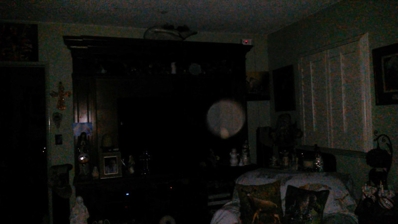 This is a still image of The Light of Jesus (with Archangel Chamuel appearing as the smaller orb); as captured on video the evening of Christmas, December 25, 2018.