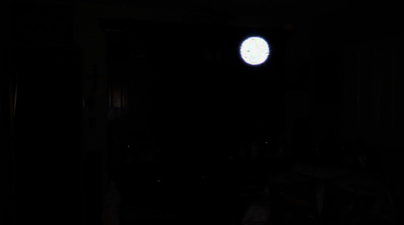 This is an underexposed image of The Light of Jesus; as captured on video the evening of November 24, 2018.