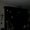 This is a still image of Archangels Raguel and Raziel (smaller orb); as captured on video Easter evening, April 1, 2018.
