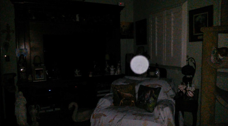 This is the third still image, of four images presented of The Light of Saint Francis; as captured on video the evening of December 26, 2018.