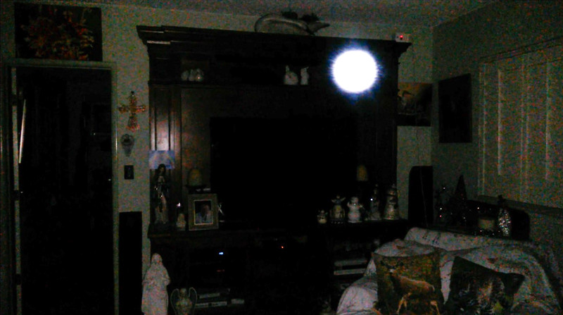 This is the same image of The Light of Jesus, as the prior image, but this image has been  overexposed. I marvel at His indigo blue energy emanating from His Light.<br /> <br /> This image of the Light of Jesus was captured on video the evening of November 24, 2018.