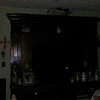 This is a still image of The Light of a Fairy (small bright multi-colored Light on the TV screen); as captured on video the evening of September 5, 2018.