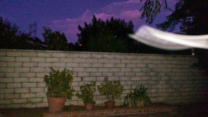 This photograph, of The Light of Jesus moving past me, was taken at dusk on August 24, 2015.