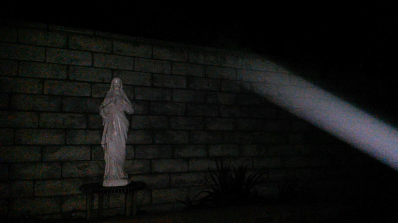 This is a still image of The Light of Jesus descending; as captured on video the evening of September 6, 2017.