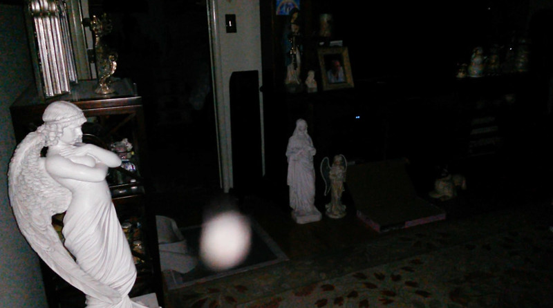 This is the fourth still image, of five images presented, of Archangel Gabriel; as captured on video Easter evening, April 1, 2018.