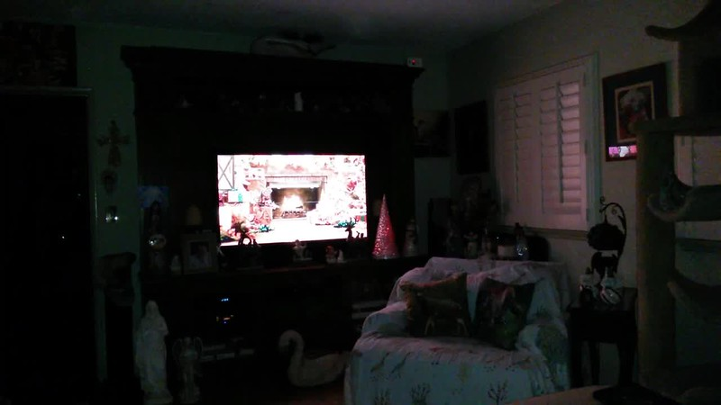 THE LIGHT AND THE YULE LOG - AS CAPTURED ON VIDEO THE EVENING OF DECEMBER 24, 2018