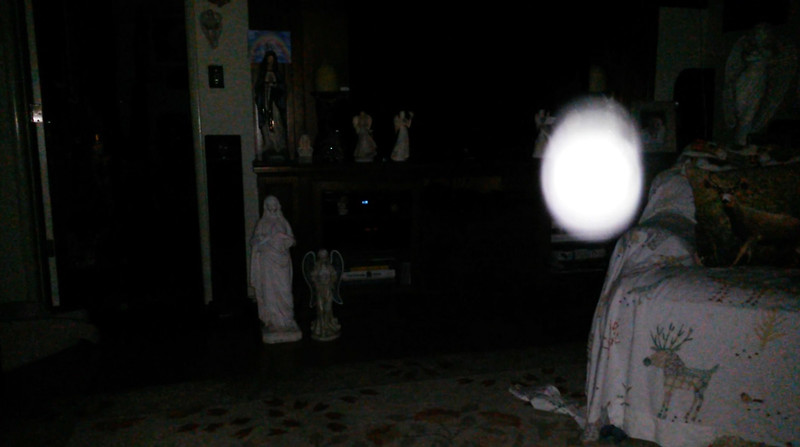 This is a still image of The Light of Mother Mary; as captured on video the evening of April 18, 2019.