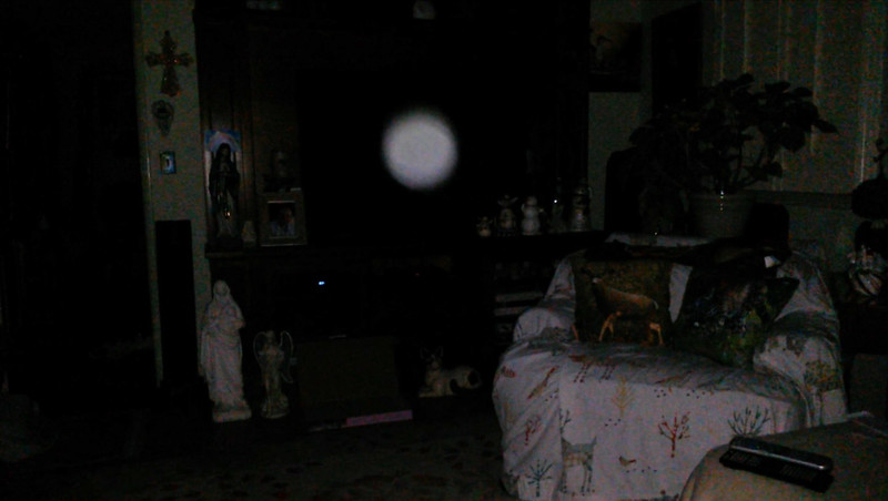 This is the seventh still image, of eight images presented, of The Light of Mother Mary; as captured on video the evening of May 10, 2018.