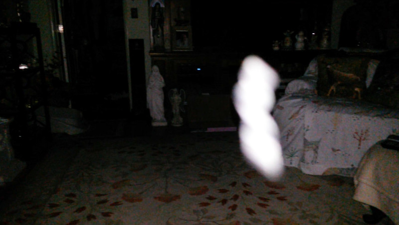 This is the fifth still image, of eight images presented, of The Light of Mother Mary; as captured on video the evening of May 10, 2018.