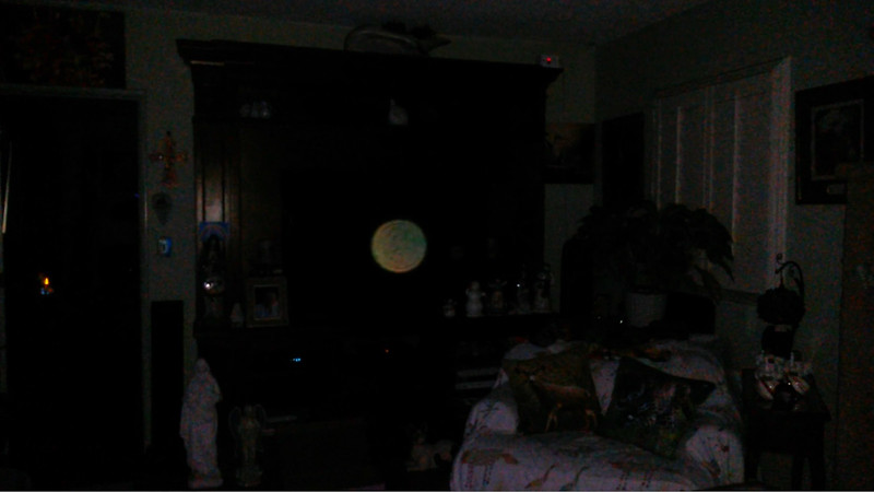 This is the third still image, of four images presented, of The Light of Mother Mary; as captured on video the evening of January 15, 2018.