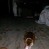 In this image Mother Mary is caressing the face of my cat. <br /> <br /> This is the sixteenth still image, of twenty-six images presented, of The Light of Mother Mary; as captured on video the evening of April 30, 2018.