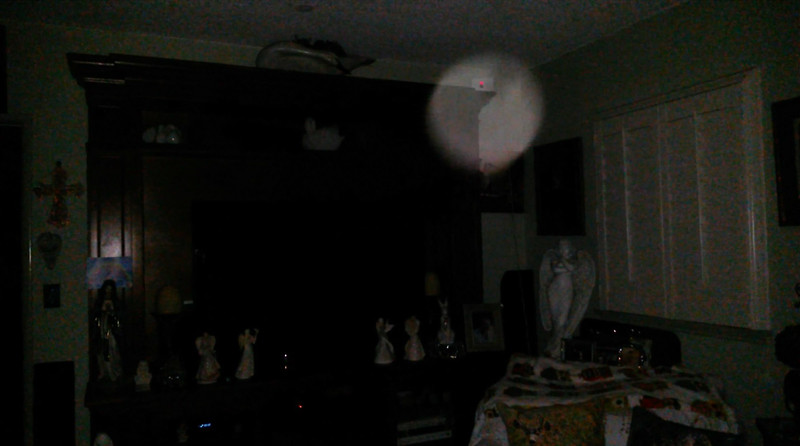 This is the sixth and final still image of The Light of Mother Mary; as captured on video the evening of Easter, April 21, 2019.