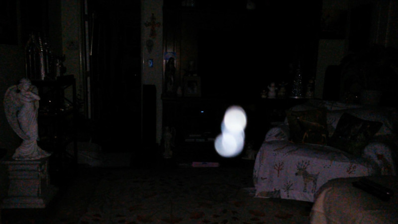 This is the fifth still image, of sixteen images presented, of The Light of Mother Mary; as captured on video the evening of October 5, 2017.