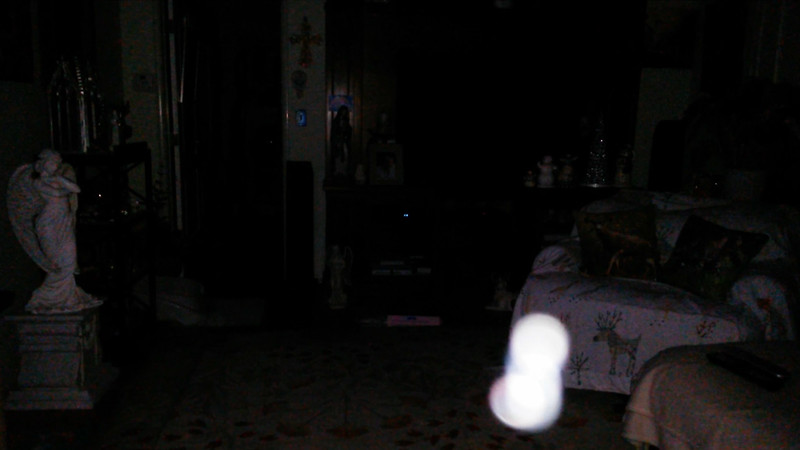 This is the sixth still image, of sixteen images presented, of The Light of Mother Mary; as captured on video the evening of October 5, 2017.