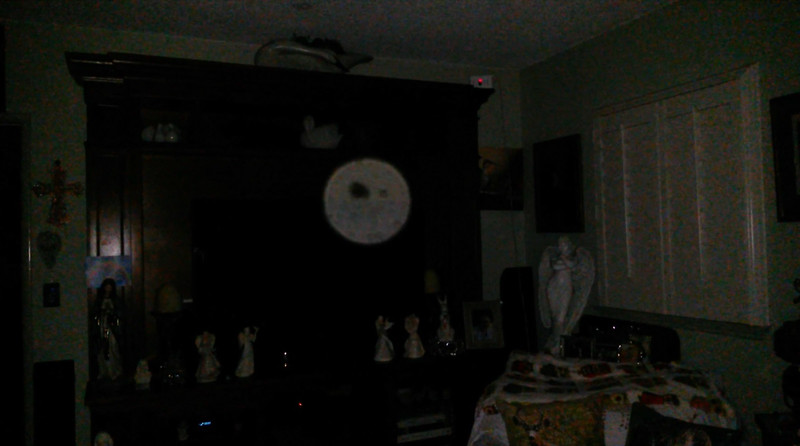 This is the fifth still image, of six images presented, of The Light of Mother Mary; as captured on video the evening of Easter, April 21, 2019.