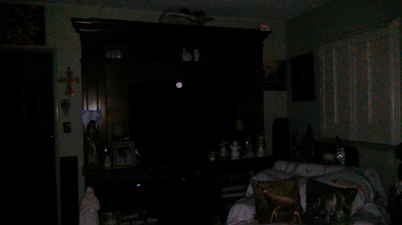 This is one still image, of seventeen images presented, of The Light of Mother Mary; as captured on video the evening of November 28, 2018.