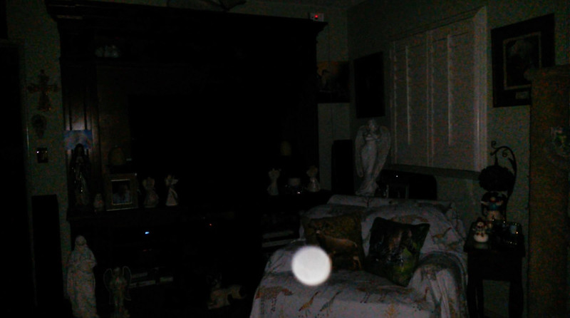 This is the fourth still image, of seven images presented, of The Light of Mother Mary; as captured on video the evening of January 3, 2019.