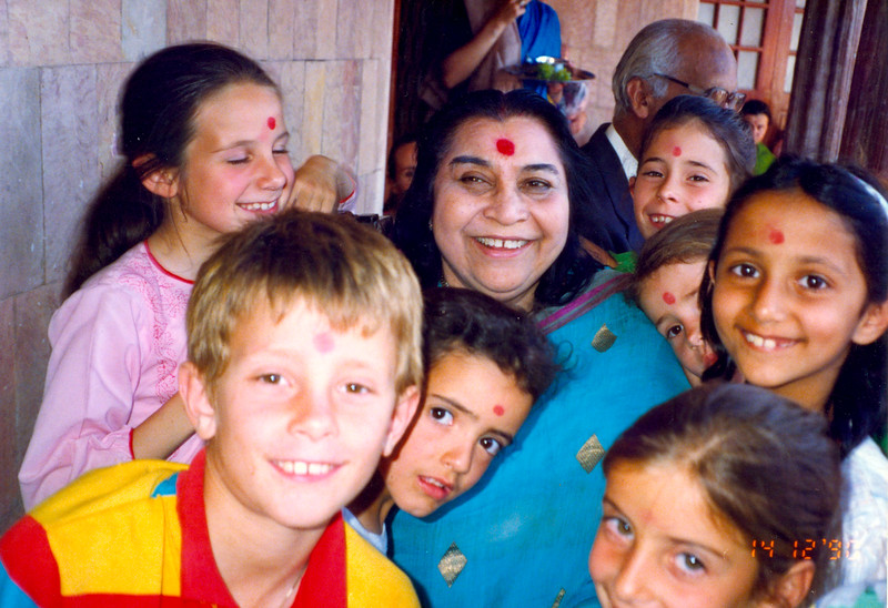 International Sahaja Public School student at Pratishthan India, 14 December 1990