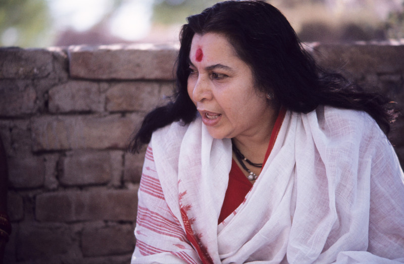 Shri Mataji in India (Malcolm Murdoch photo)
