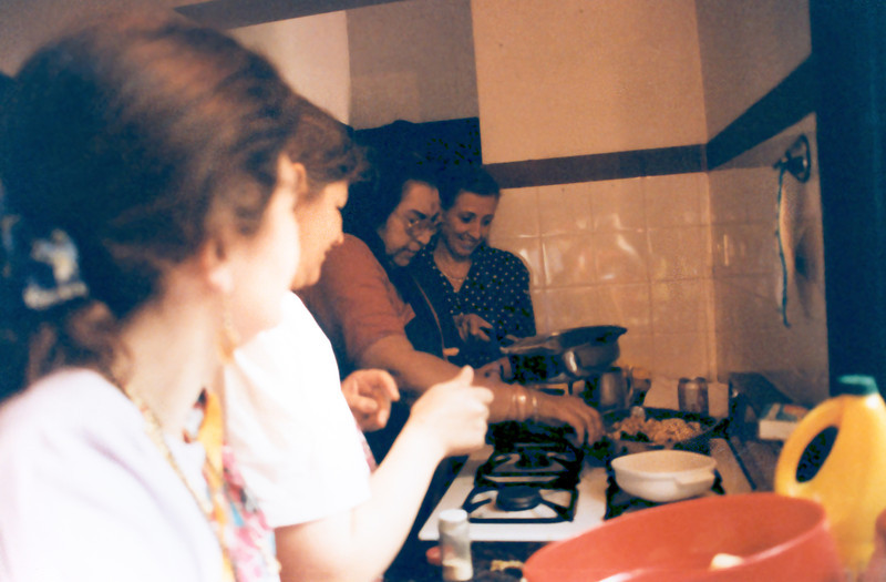 Cooking near Buenes Aires Argentina, 1994 ••
