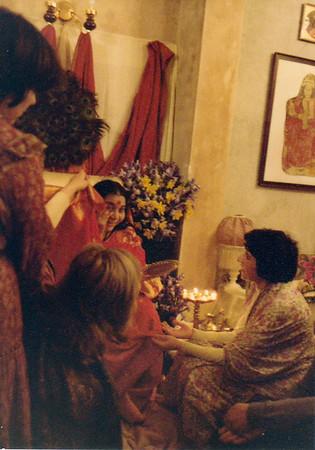 Puja, Chelsham Road Ashram, London, circa 1979 or 1980