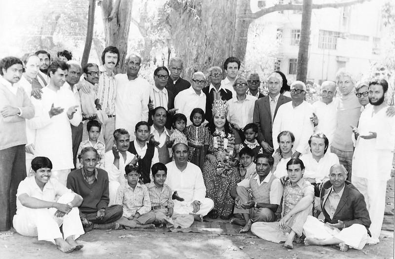 • After a puja, 10 Askoka Road, Bombay (Mumbai),1979