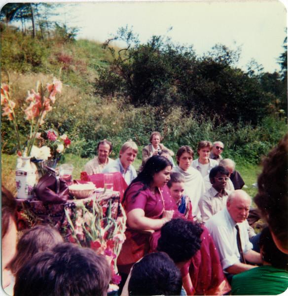 Cowley Manor seminar, Cheltenham UK, July or August 1982