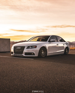 Audi riding on rotiforms, floating on bags