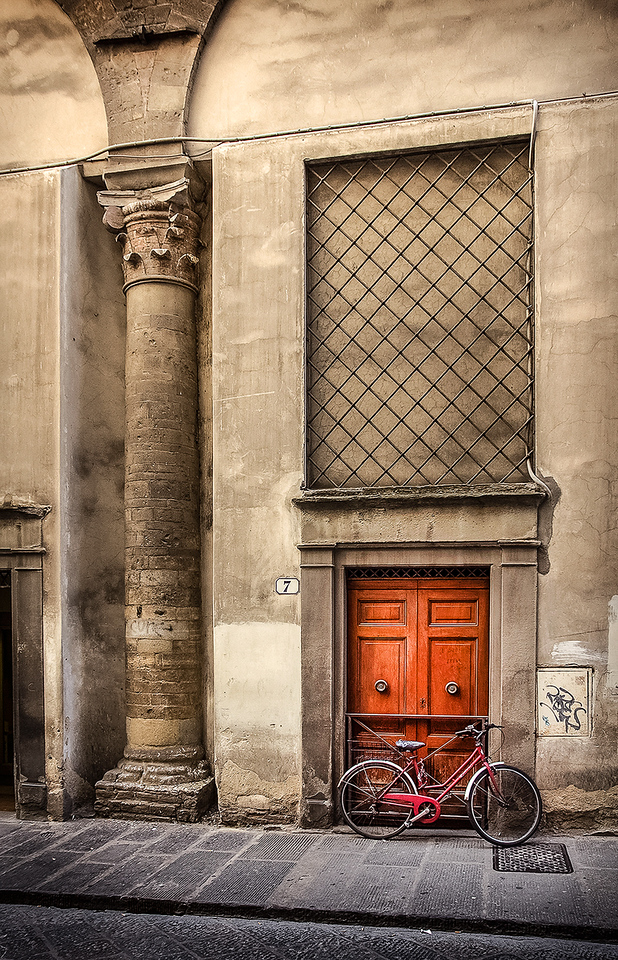 Italy Door and Red Bike OPTO