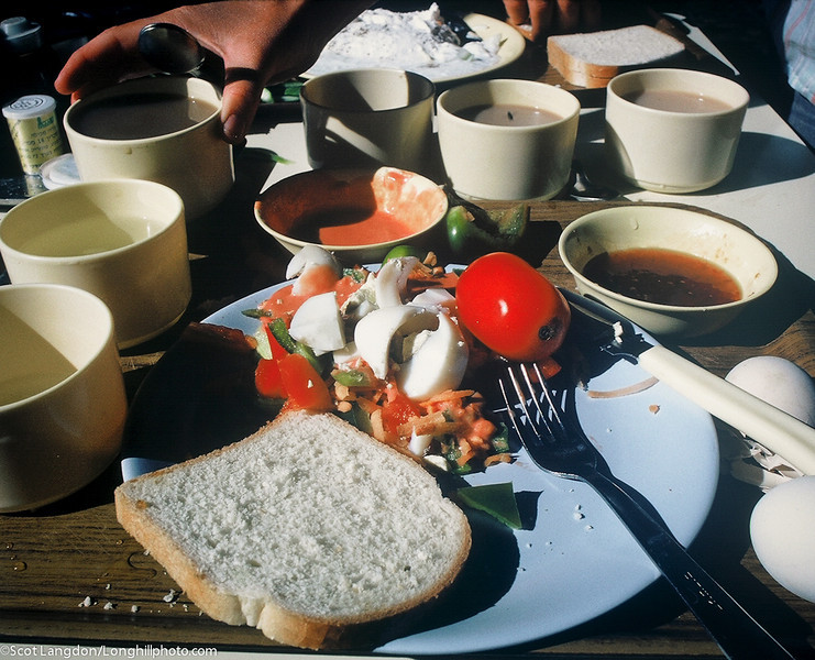 Meals on Malkiya always included fresh vegetables, fruit and bread, mostly grown onsite or traded with other kibbutz.