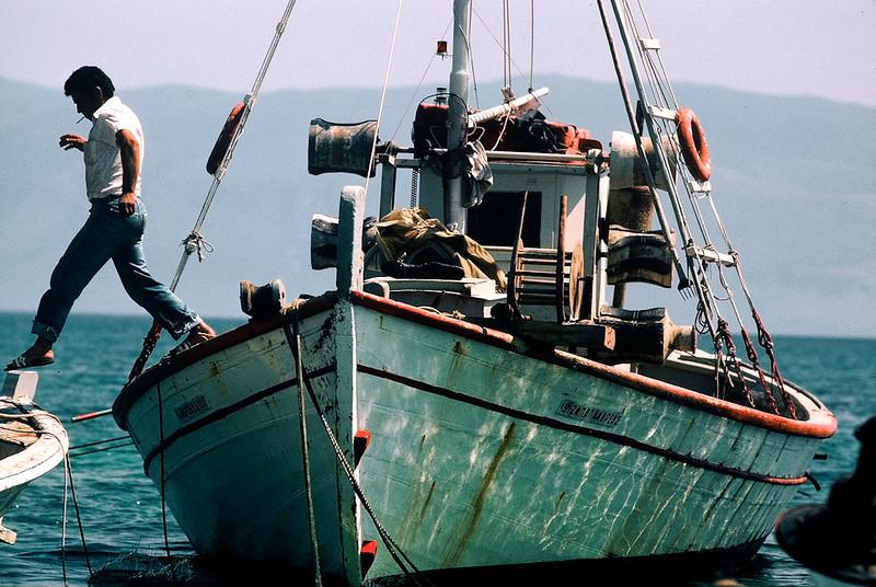 Fisherman. Port of Sami, Island of Cephalonia, Greece.