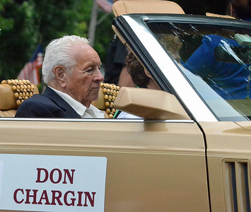 KYLE MENNIG - ONEIDA DAILY DISPATCH Don Chargin rides in the International Boxing Hall of Fame Induction Weekend Parade of Champions in Canastota on Sunday, June 12, 2016.