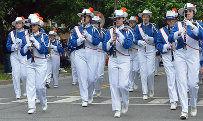 KYLE MENNIG - ONEIDA DAILY DISPATCH The Oneida marching band marches in the International Boxing Hall of Fame Induction Weekend Parade of Champions in Canastota on Sunday, June 12, 2016.