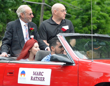 KYLE MENNIG - ONEIDA DAILY DISPATCH Class of 2016 inductee Marc Ratner rides in the International Boxing Hall of Fame Induction Weekend Parade of Champions in Canastota on Sunday, June 12, 2016.