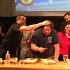A team of Albany firefighters competes against a team of staff and volunteers from the Boys & Girls Clubs of Albany and Troy during the second annual Capital Region WingFest on Thursday night at Brown's Revolution Hall in downtown Troy.