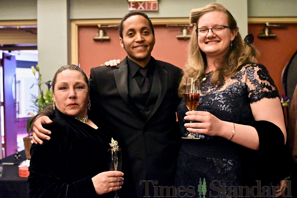. Denise Lynn Ryles, Humboldt-Del Norte Film Commission volunteer Josiah and Dani Burkhart take a moment for a picture. José Quezada�For the Times-Standard