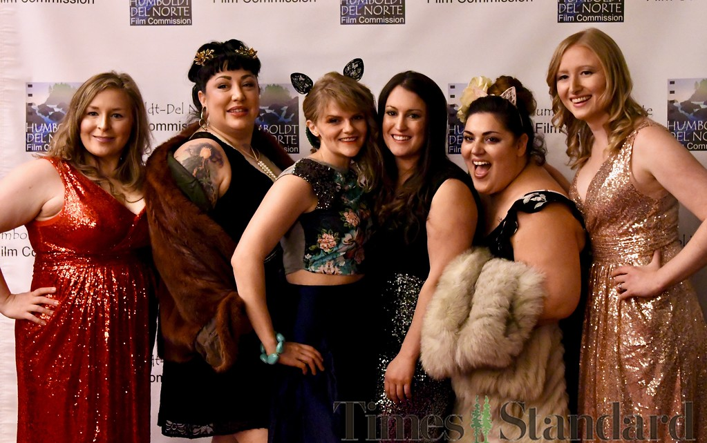 . Rocking the fashionista scene at the Red Carpet Oscar gala last night were Nicole Couch, Taylor Depew, Carly Robbins, Amanda Nelson, Klark Swan and Lizzy Clohessy. José Quezada�For the Times-Standard