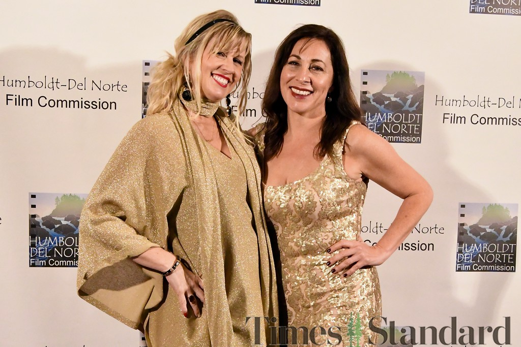 . Stacey Margetts Farrell and Cassandra Roberts Hesseltine take a moment for a quick photograph. Farrell is a veteran of managing past R%ed Carpet activities for Hollywood Oscar Awards Shows, and Hesseltine is a recognized leader in the Hollywood and local film industry.